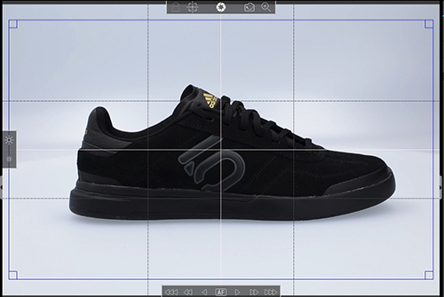 black sport shoe - frame the product for 360 image