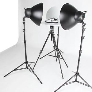 turntable in photography studio