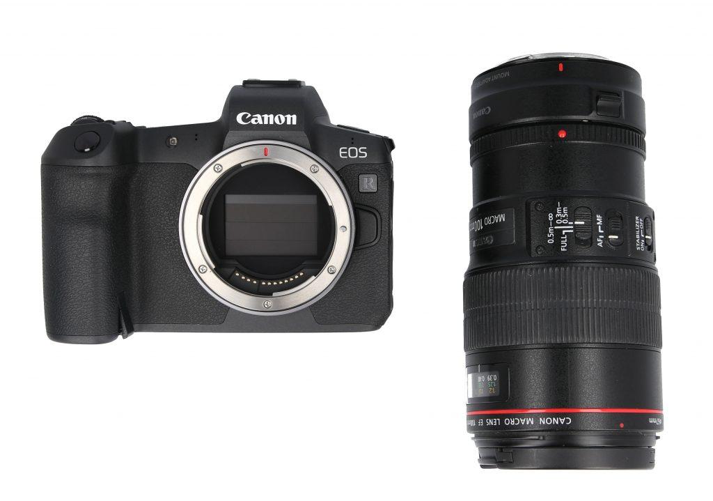 Canon EOS R with macro lens