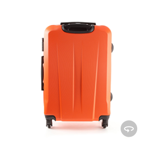 infographic: orange suitcase - 360 product image