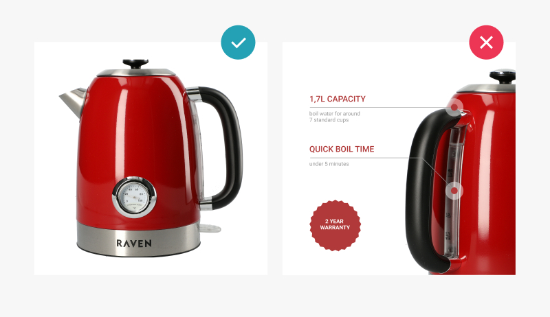 infographic: texts on product images for amazon