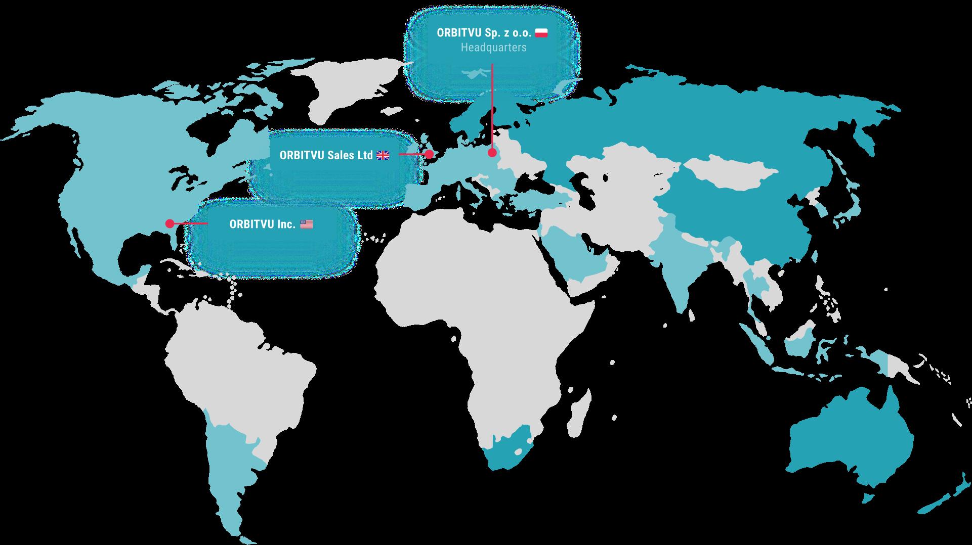Map: Orbitvu global sales network
