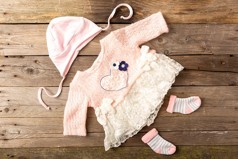 A still life photo of flat lay clothing