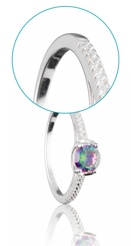 product image of jewelry - details in full frame