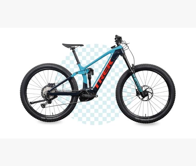 blue bike - product photography