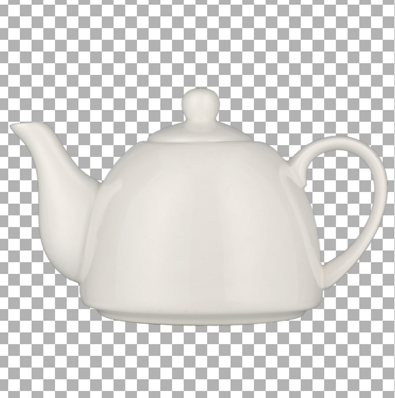 white kettle - product photography - Transparent background
