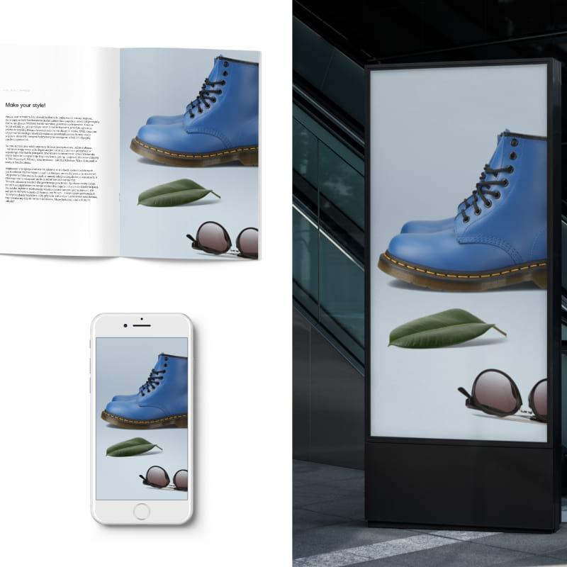 mockup - product photography - blue shoe