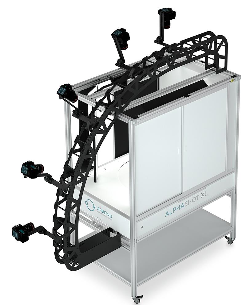 Alphashot XL with a multi-camera arm