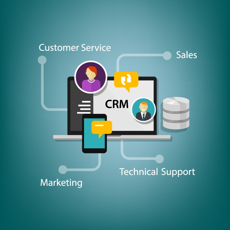 CRM systems - graphic illustration