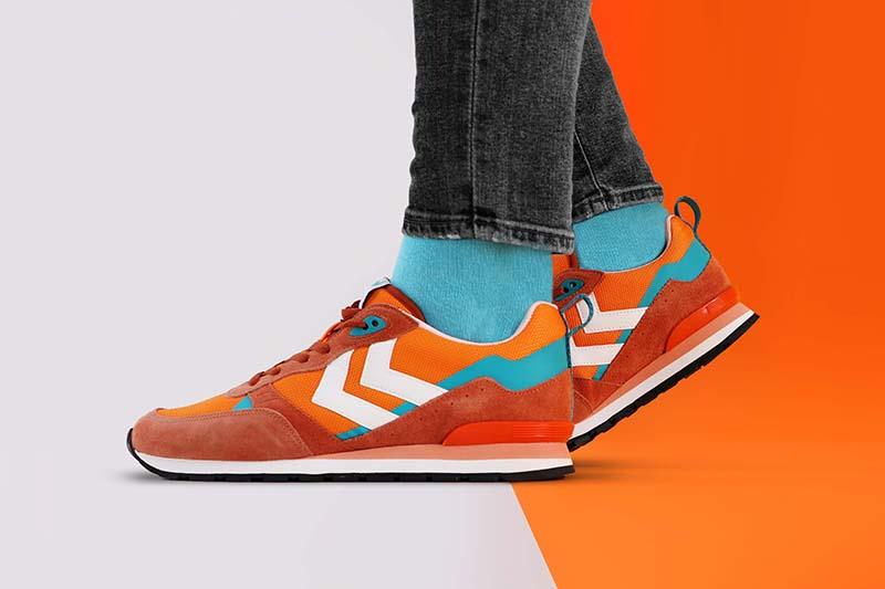 Orange shoes - a lookbook photo