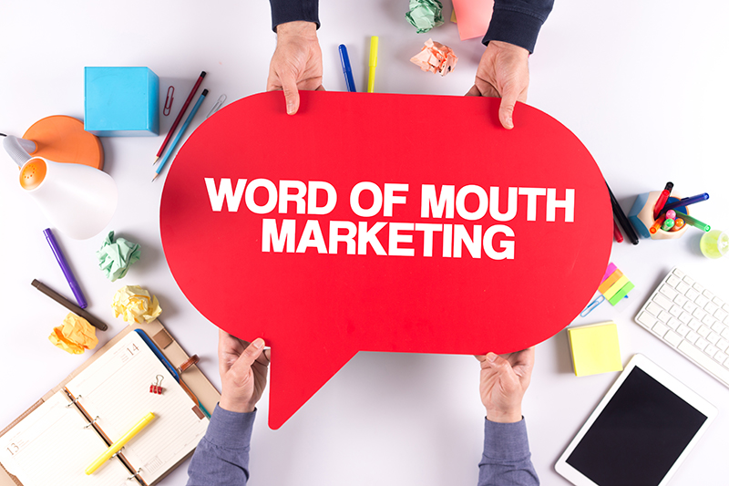 Word of mouth marketing illustration