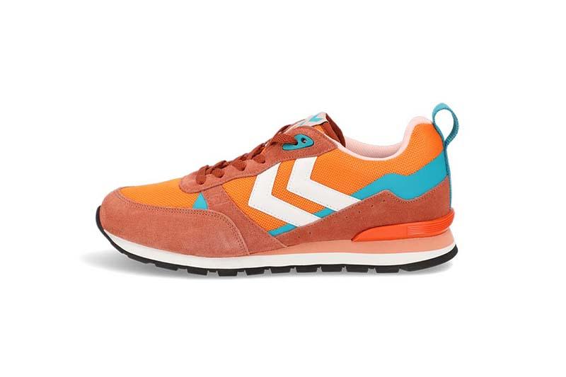 Orange shoes - a packshot