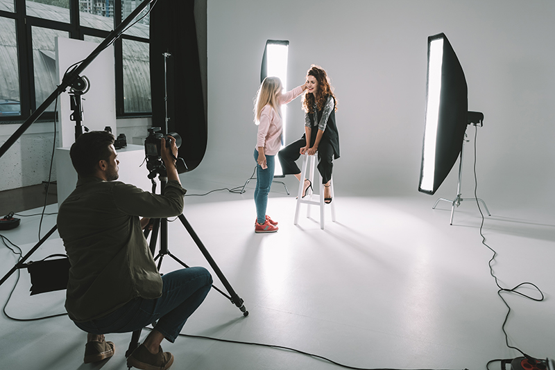 Work in a photographic studio - example