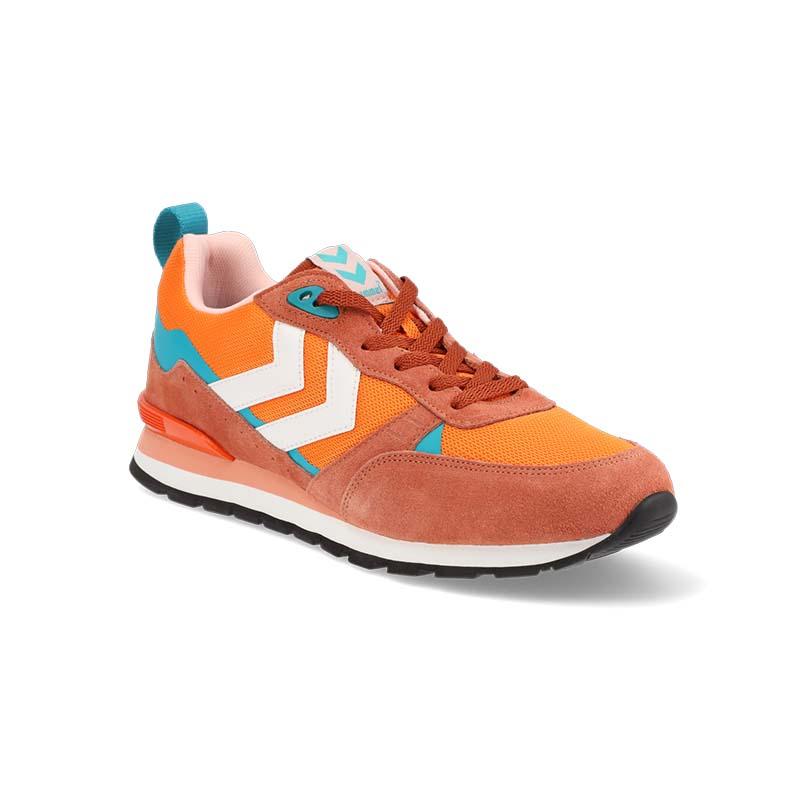 Orange shoe - view at 45 degrees angle