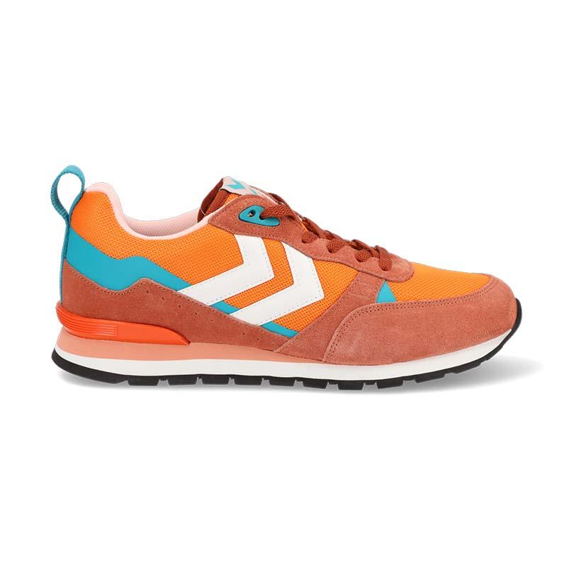 Orange shoe - side view