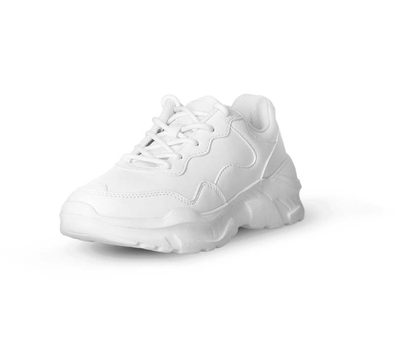 Photograph of a white shoe with contrast issues