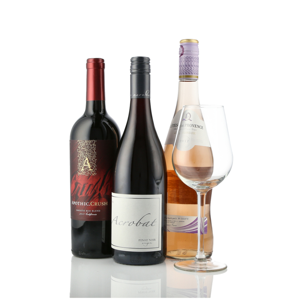 Wine  ecommerce image with a wine glass on a white background