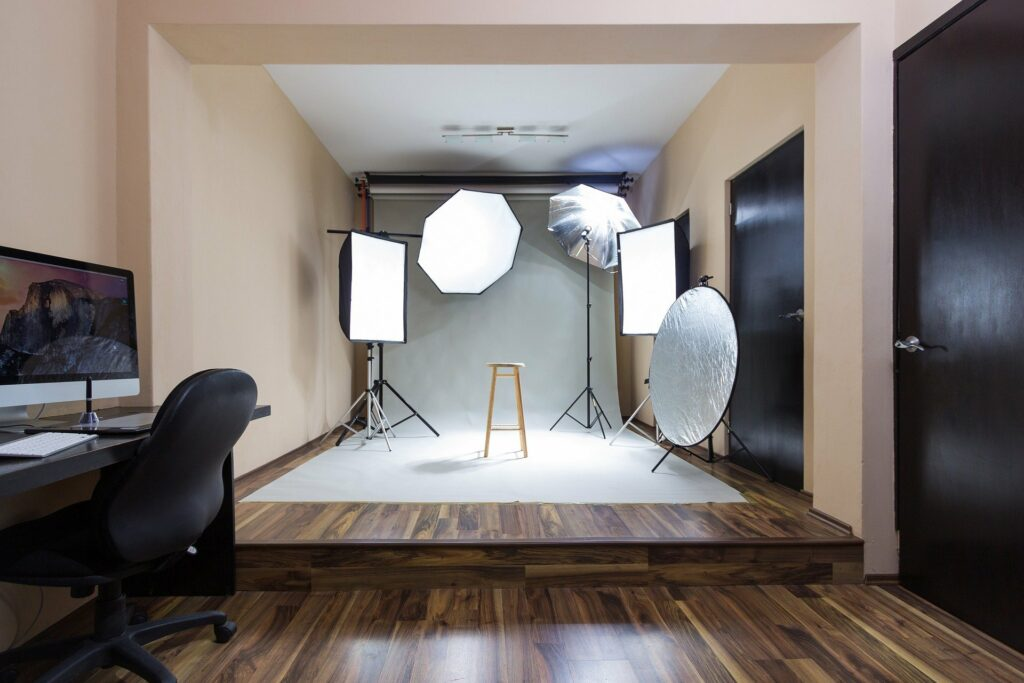 Example of Natural Light Product Photography Studio Set-up