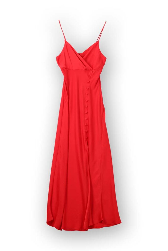 Flat lay photograph - red dress