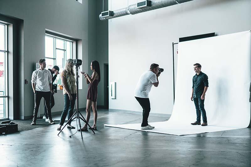 Photo session in a studio