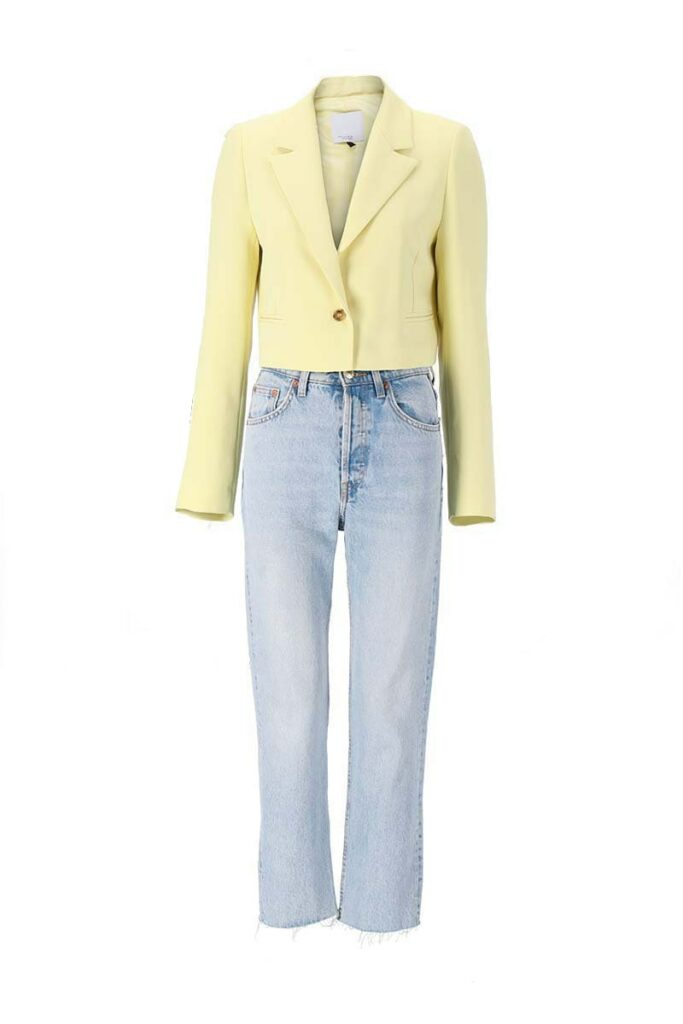 Ghost mannequin stylization - jeans and jacket